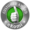 Awarded the eKomi Standard Seal of Approval!