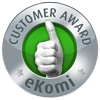 Awarded the eKomi Silver Seal of Approval!