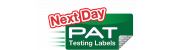 Next Day PAT Testing Labels
